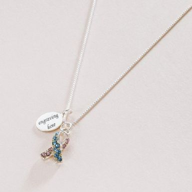 Infant Loss Awareness Necklace with Engraving | Someone Remembered